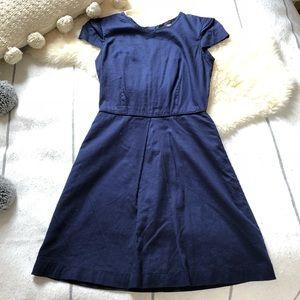 A Line Shift Mini Dress with Shoulder Detail Zip